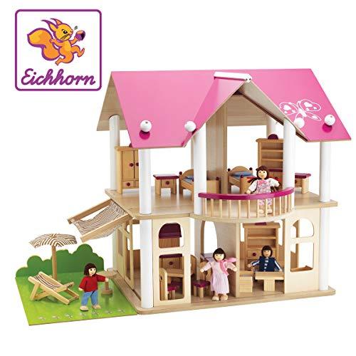 Eichhorn 100002513 - Puppenvilla inkl. 4 Puppen...
