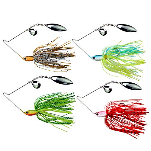Cebos spinner de pesca 14g Spinner Set Cucharillas Pesca para Lucio Perca Trucha 8 Piezas