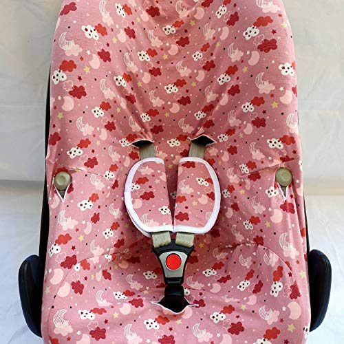MOON-BEBE funda para Maxi Cosi,baby comfort pebble Cabriofix, City, Streety Fix, Jané Koss, Be Cool (ROSA)