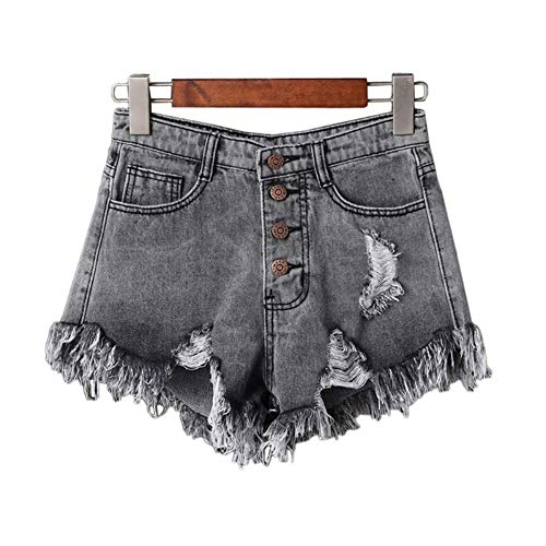 NSDKFF Women'S Shorts Casual Zomer Vrouwen Shorts Hoge Taille Fur-Lined Been-Openingen Korte Jeans