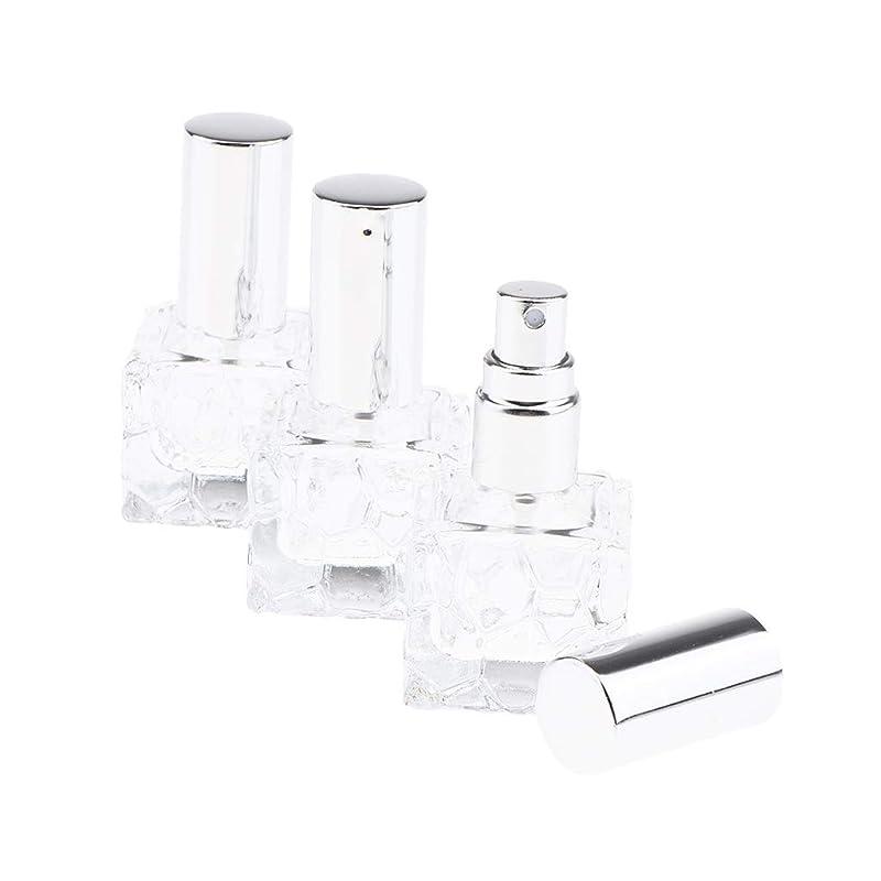 フィヨルド結晶民族主義SM SunniMix 香水瓶 ポンプ式 スプレーボトル ガラス 香水アトマイザー 香水噴霧器 香水入れ 携帯用 2種選択でき - 10ml 3個