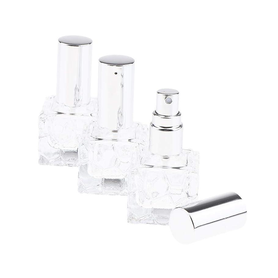SM SunniMix 香水瓶 ポンプ式 スプレーボトル ガラス 香水アトマイザー 香水噴霧器 香水入れ 携帯用 2種選択でき - 10ml 3個