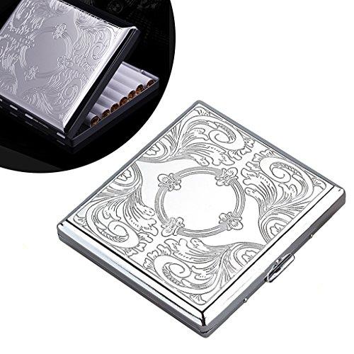 Metall zigarettenetui - Aluminium Zigarettenbox für 20 zigaretten,Silber