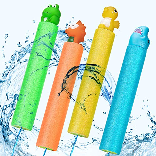 HOLIFLY Water Guns Pool Toys for Kids, Super Squirt Guns Water Soaker Blaster, 4 Animal Figures...
