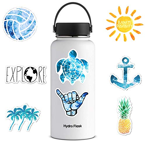 Cute VSCO Ocean/Beach Vinyl Stickers for Water Bottles, Laptops [56 PC], Waterproof Aesthtic Trendy Scrapbooking Supplies Decal for MacBook Hydro Flask Computer Phone Guitar Car Bumper Decor