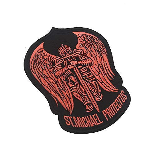 Parche bordado de St.Saint Michael Protect Us para chaquetas, gorras, sombreros, mochilas, etc.