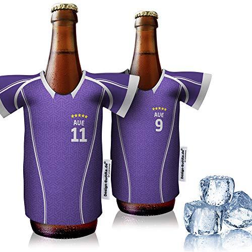 vereins-Trikot-kühler Home für FC Erzgebierge AUE Fans | 2er Fan-Edition| 2X Trikots | Fußball Fanartikel Jersey Bierkühler by Ligakakao