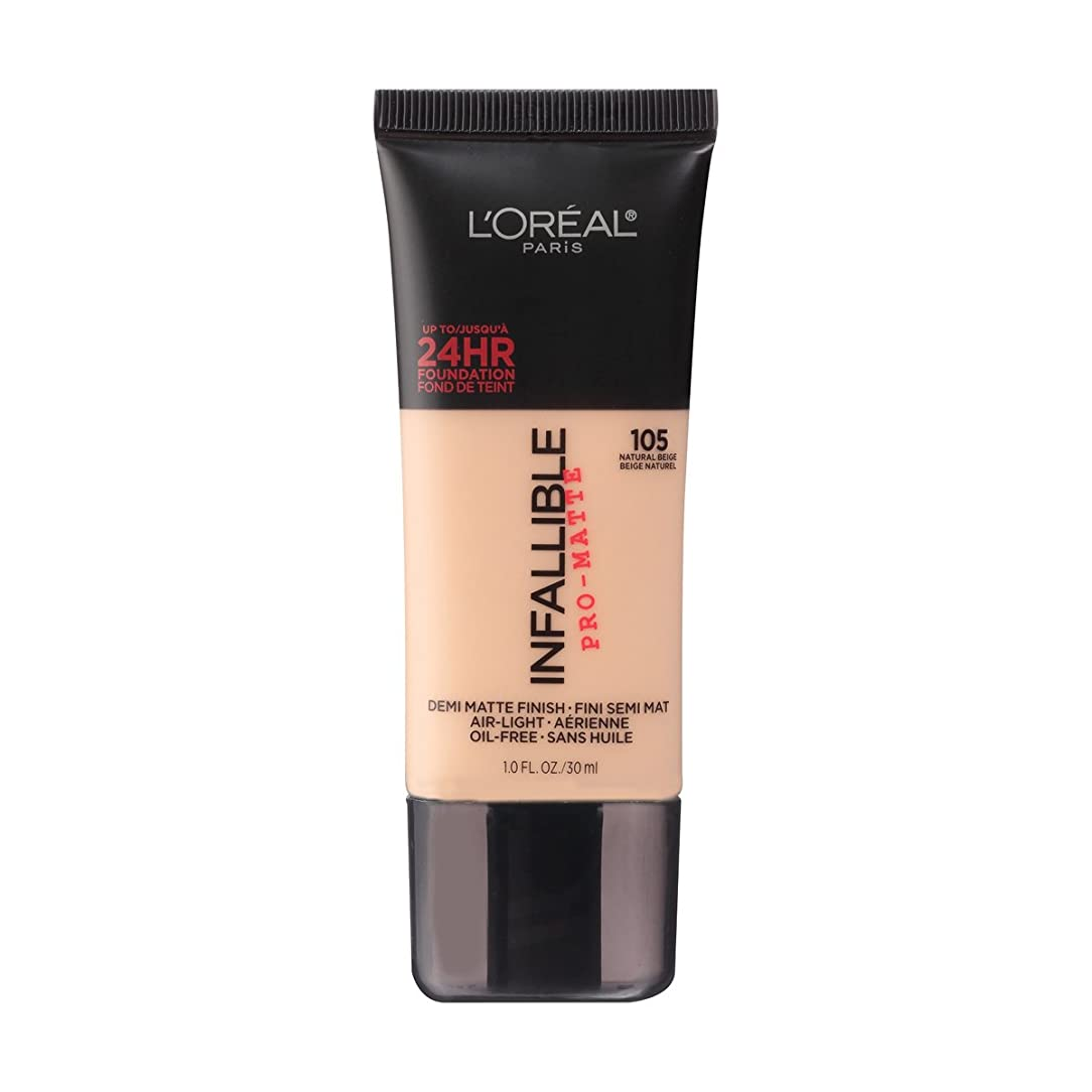 (3 Pack) L'OREAL Infallible Pro-Matte Foundation - Natural Beige (並行輸入品)