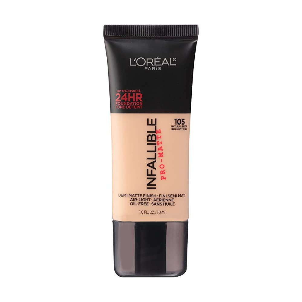 生産性証書しなやか(6 Pack) L'OREAL Infallible Pro-Matte Foundation - Natural Beige (並行輸入品)