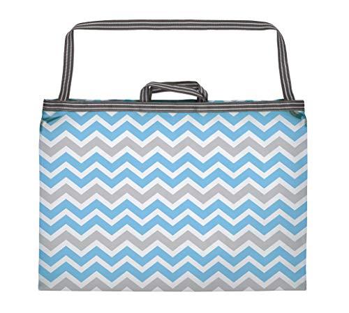 東和産業 洗濯ネット コインランドリー用 ランドリーバッグ ブルー L 約70×40cm 一つで3役 持ち運びに便利 メッシュ生地 22360