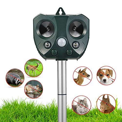 Nobug Animal Repellent Ultrasonic Outdoor, Animal Repeller, Solar Animal...