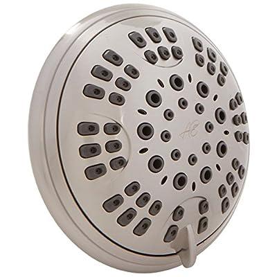 Aqua Elegante 6 Function Luxury Shower Head - Best High Pressure, Wall Mount, Adjustable Showerhead
