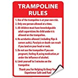 Trampolin Rules Activity Sign Park Signs Park Rules Signs Signs Sign Selbstklebende Vinyl...