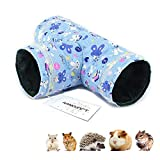 Amakunft Guinea Pig Tunnels and Tubes, Guinea Pig Hideaway Play Toy, Tunnel for Hedgehog, Hamster, Mice, Rats, Gerbil Rat, Squirrel