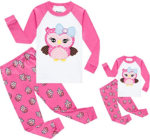 Girls and Doll Matching Pajamas for Handmade Owl Pyjamas Baby Clothes Kid Children Cotton PJs Set 3t