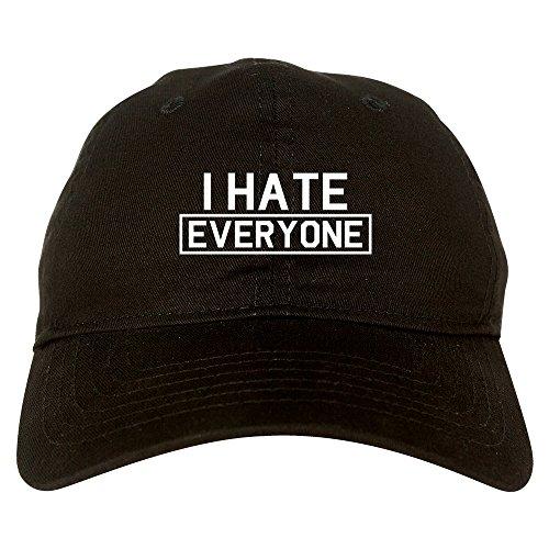 Fashionisgreat I Hate Everyone Goth Funny Dad Hat Baseball Cap Black