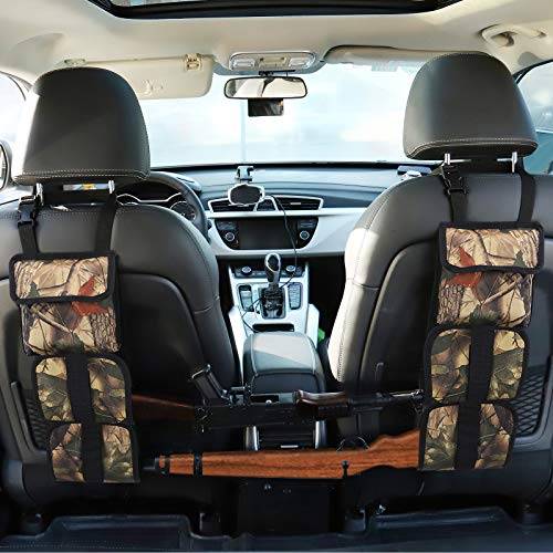 Accmor Car Seat Back Gun Sling, Camo Hunting Gun Rack Holder Organizer, Universal Car Concealed Seat Back Gun Strap Hunting Gear for Car Truck SUV Vehicles Car Storage