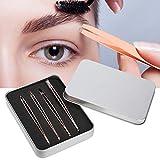 Pinza de punta inclinada portátil para uso profesional de belleza