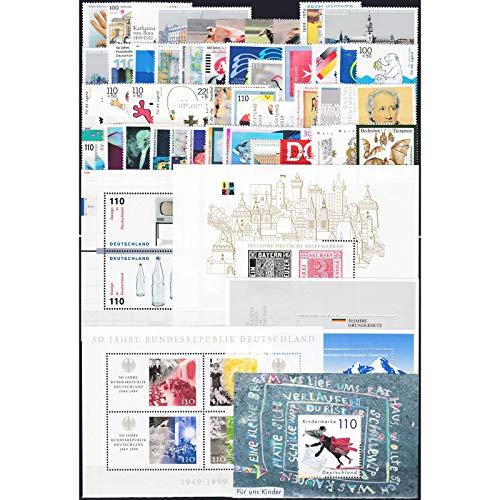 Goldhahn BRD Bund Jahrgang 1999 postfrisch ** MNH komplett Briefmarken für Sammler