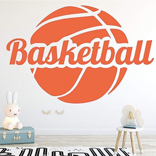 Ajcwhml Spaß-Basketball-Art- und Weisekunst-Wand-Aufkleber für Jungen-Schlafzimmer-Innenstadion-Ausgangsdekor-Zusätze 橙色 43cm x 28cm