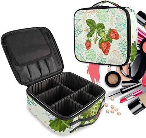 Cosmétique HZYDD Red Strawberry Make Up Bag Trousse de Toilette Zipper Sacs de Maquillage Organisateur Poche for Compartiment Femmes Filles Gratuit