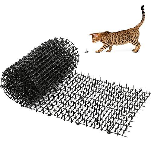 Kohree Anti-Chat avec Pointes, 200x 30 cm Tapis de dissuasion répulsif répulsif de pointes d'animaux de chien de chat de, Tapis anti-chat pour jardin intérieur extérieur, clôture