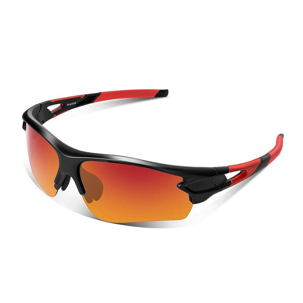 許容できる殺人地図スポーツサングラス 偏光レンズ 自転車 登山 釣り 野球 ゴルフ ランニング ドライブ バイク テニス スキー 超軽量 UV400 TAC TR90 紫外線防止 メンズ レディース ユニセックス サングラス 安全 清晰