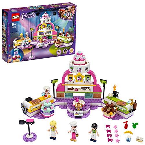 LEGO Friends 41393 Concurso de Repostería Cocina de, Juguete Set de Construcción para Niños de a Partir de 6 Años con Mini Muñecas