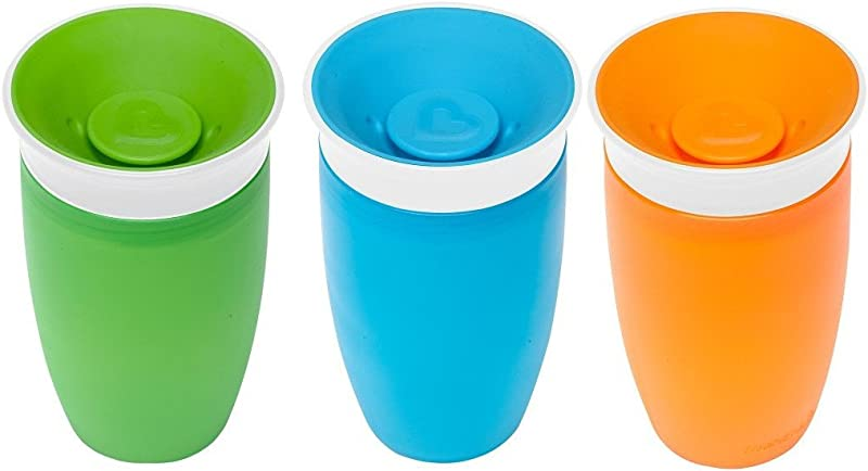Munchkin Miracle 360 BPA Free Sippy Cup 10 Ounce 3 Count Green Blue Orange