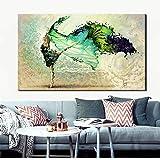 Pintura de lienzo en la pared, acuarela abstracta moderna bailarina arte de la pared impreso sala de estar póster de pared40x60cm