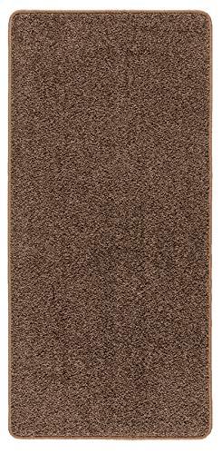 Misento Shaggy Hochflor Teppich für Wohnzimmer Langflor, schadstoff geprüft 100{0f42c441bb1f929d6ae90eb0b85376fd85e6d0e98b8256fc9c1e61a24a514d37} Polypropylen, braun 67 x 140 cm