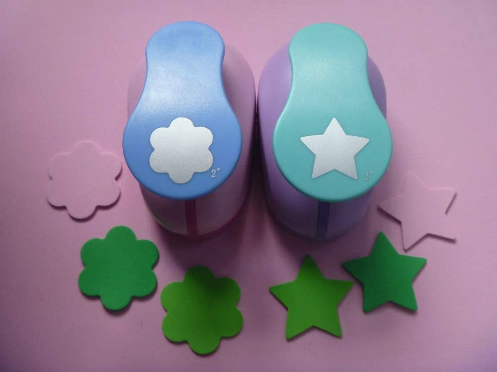 Clips 2 inch Ranking TOP6 2pcs 1pc Flower and Foam Manufacturer direct delivery Star Punch eva Craft