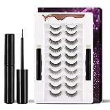LAMIX Upgrade Magnetic Eyeliner and Lashes, 10 Pairs Natural False Lashes 5 Style, Magnetic Eyeliner Kit