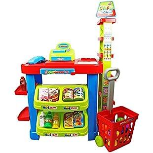 Oypla Childrens Kids Supermarket Shop Grocery Pretend Toy Kitchen Playset:Cnsrd