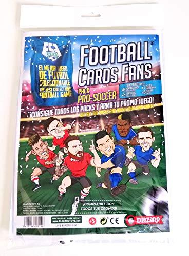 DLAZARO Football Cards Fans Pro Soccer, Juego de Mesa, Fútbol con Cartas coleccionables Compatible con cromos de panini y adrenalyn