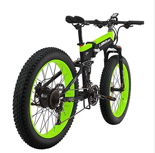 Elektrofahrrad Klapprad Ebike Mountainbike 26 Zoll Elektrisches Fahrrad mit 48V 12.8AH Lithium-Akku, 1000W Motor 40 km/h,Shimano 27 Geschwindigkeiten, MTB E-Bike für Herren Damen Erwachsene