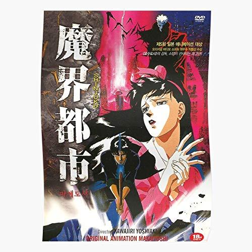 Demon Shinjuku Cult City Vintage Movie Film Regalo para la decoración del hogar Wall Art Print Poster 11.7 x 16.5 inch