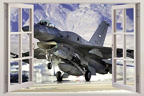 Wandtattoos Wandaufkleber Fighting Fighter Airplane 3D-Fensteraufkleber Wandaufkleber Art.-Nr.