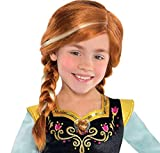 You're the spunky little sister in the Frozen movie with this faithful Anna Wig for children This authentic wig features long auburn locks and Anna's signature blonde highlights styled into 2 braids with a sassy side part Officially licensed Disney p...