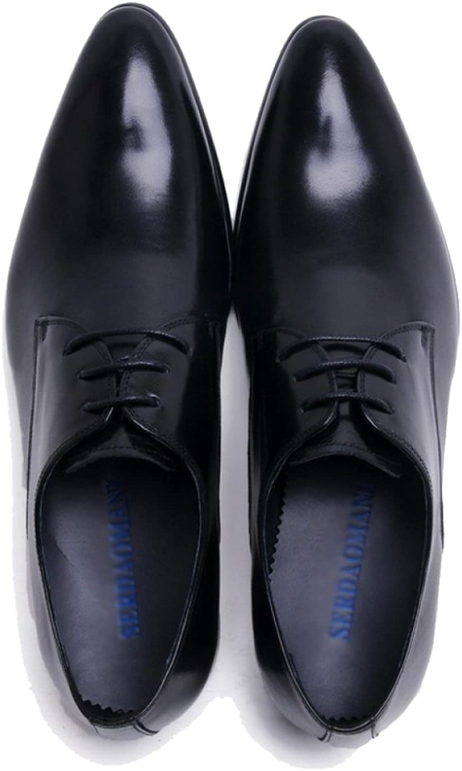 SHANHEYY Classic Brogues Men's Real Leather shoes Derby Oxford Lace up Formal shoes