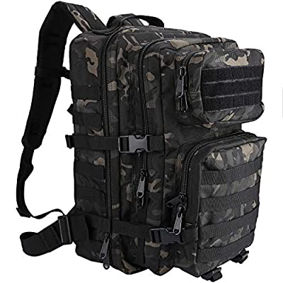 ProCase Tactical Backpack Bag 40L Large 3 Day Military Army Outdoor Assault Pack Rucksacks Carry Bag Backpacks -Camoblack