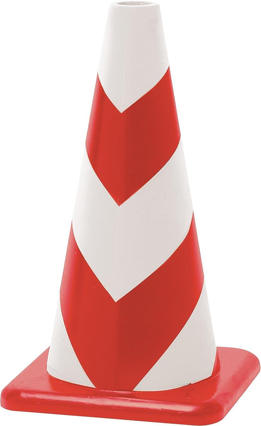 甘美な定規ソーシャルラバーコーン 赤白 無反射タイプ 450mm 2.3kg 重くて丈夫な ゴム製 カラーコーン? 5本セット