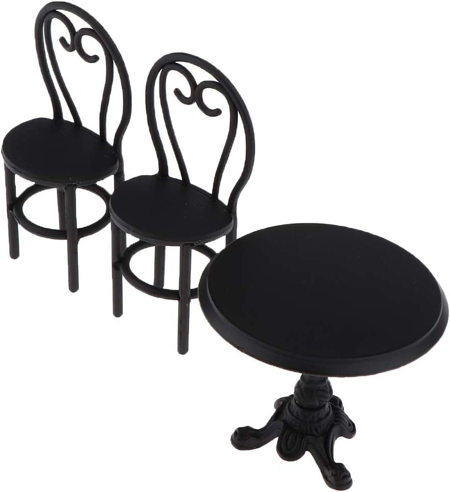 YINGGEXU Dining Chair Vintage 1 Metal Set 12 Miniature 2021 model Furniture Complete Free Shipping