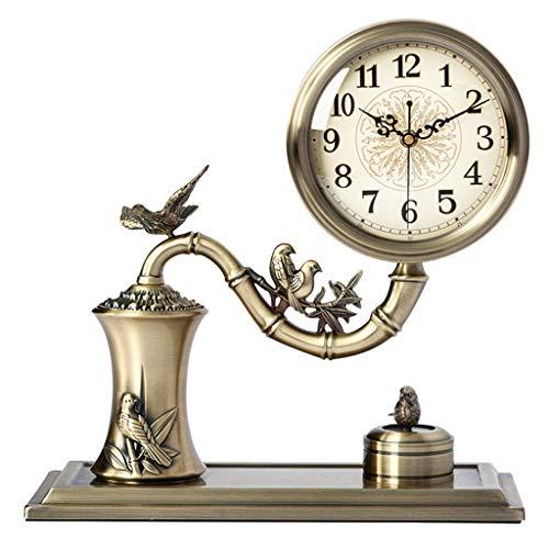 Qivor Reloj de Metal Completo Reloj Reloj Sala de Estar Moda Grande Sentado Creativo Reloj Decoración