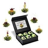 Creano 6 Teeblumen Geschenkbox grüner Tee, in edeler Magnetbox mit...