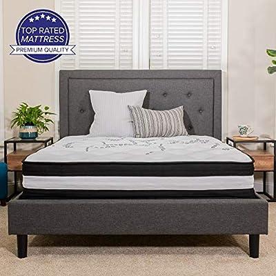 Flash Furniture Capri Comfortable Sleep 12 Inch Foam and Pocket Spring Mattress