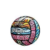 Wilson Pelota de vóley-playa, Exterior, Uso recreativo, Tamaño mini, GRAFFITI MINI, Morado/Azul/Verde, WTH4112XB