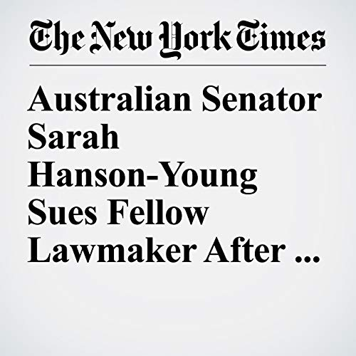 Australian Senator Sarah Hanson-Young Sues Fellow Lawmaker After Sexist Remark copertina
