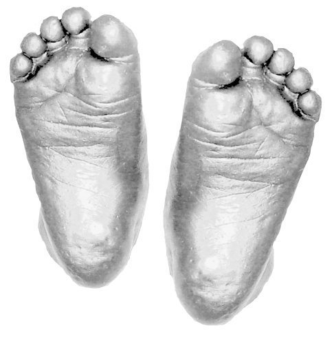 Baby Casting Kit to Make 3D Hand and Foot Casts with Silver Paint by BabyRice