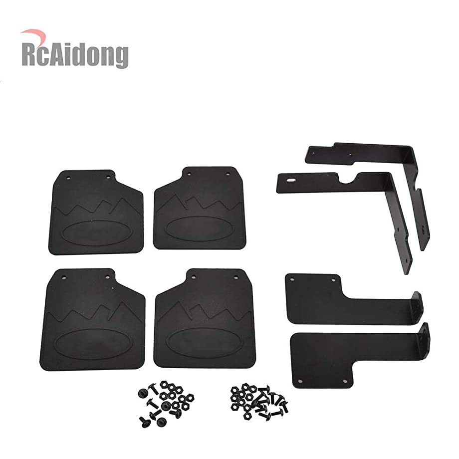 RC TRX4 Front & Rear Mud Flaps Rubber Fender for 1/10 RC Crawler Traxxas TRX-4 82046-4 Ford Bronco Ranger XLT (Ford)